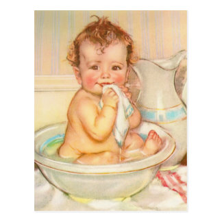Leuk Baby die een Bad hebben Briefkaart