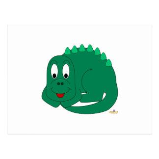 Leuk Baby Lt. Green Dinosaur Wenskaart