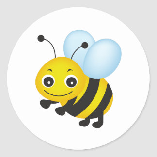 Leuk bijenontwerp ronde sticker