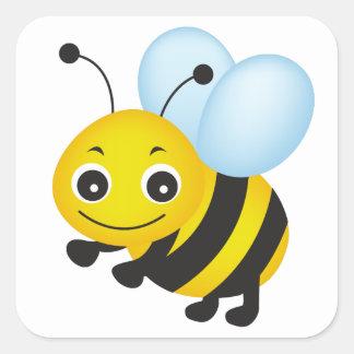 Leuk bijenontwerp vierkante sticker