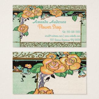 leuk bloemenlijst visitekaartjes