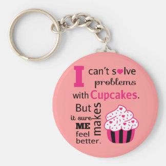 Leuk Cupcake citaat, Geluk Sleutel Hangers