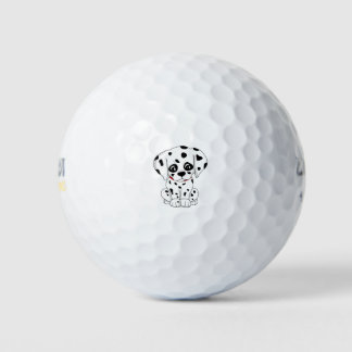 Leuk Dalmatisch puppy Golfballen