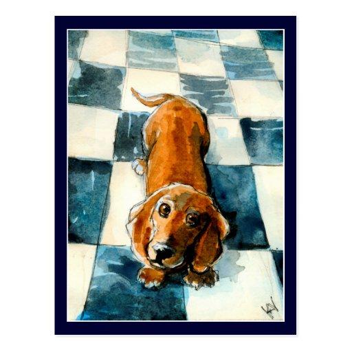Leuk de hondbriefkaart van de Tekkel Wenskaarten