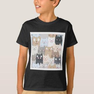 Leuk de katten blauw grijs patroon van het t shirt