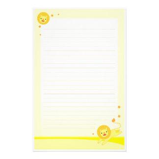 Leuk de leeuw stationair document van de trots briefpapier