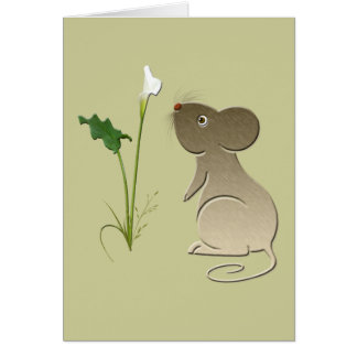 Leuk de lelieontwerp van de Muis en Calla Wenskaart