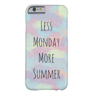 leuk de penseelstrekenpatroon van de de zomer barely there iPhone 6 hoesje