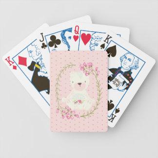 Leuk draag BloemenKroon en Harten Poker Kaarten