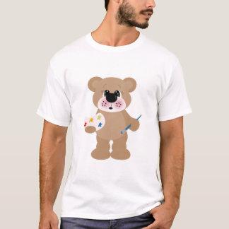 leuk draagt weinig kunstenaar met verfpalet t shirt