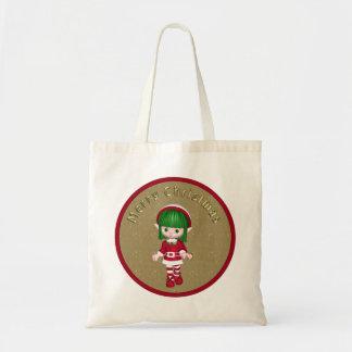 Leuk Elf - het Ontwerp van Kerstmis Budget Draagtas