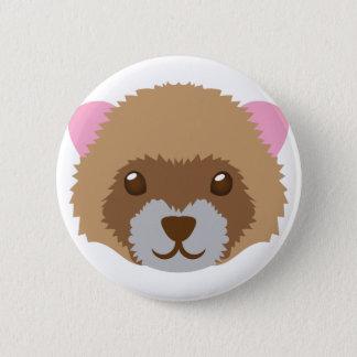 leuk fretgezicht ronde button 5,7 cm