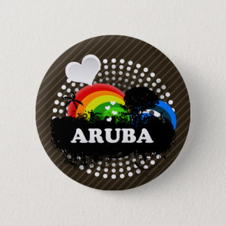 Leuk Fruitig Aruba Ronde Button 5,7 Cm