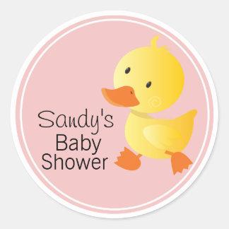 Leuk Geel Baby shower Duckie Ronde Stickers