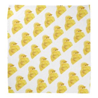 Leuk geel babyKuiken Bandana