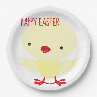Leuk Geel Eendje   Pasen Papieren Bordje