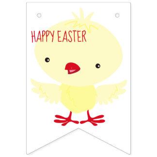 Leuk Geel Eendje   Pasen Vlaggetjes