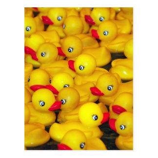 Leuk geel rubber duckies briefkaart