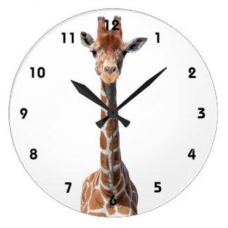 Leuk girafgezicht grote klok