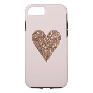 leuk gouden/roze harthoesje iPhone 8/7 hoesje
