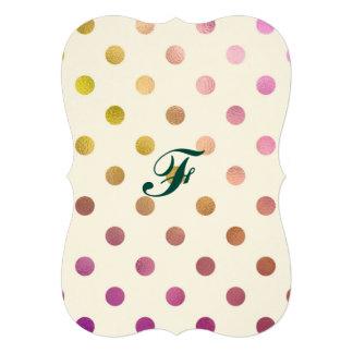 Leuk, grappig, metaal, roze, trendy stip, girly, 12,7x17,8 uitnodiging kaart