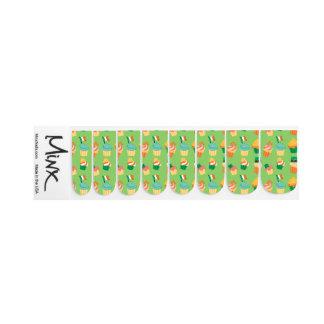 Leuk grappig St Patrick groen oranje Minx Nail Folie
