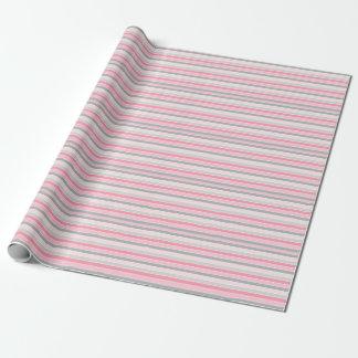 Leuk Grijs en Roze Gestreept Patroon Inpakpapier