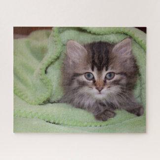 Leuk Grijs Katje onder Groene Algemene 16x20 520 Puzzel