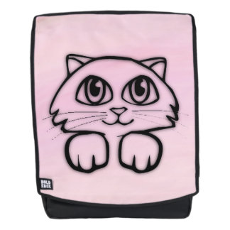 Leuk het Gluren van de Kat Roze Rugtassen