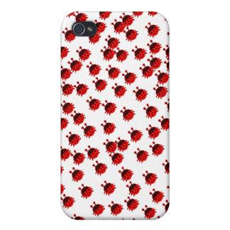 leuk het insecten rood lieveheersbeestje van de li iPhone 4 cases