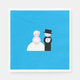 Leuk huwelijkspaar wegwerp servetten