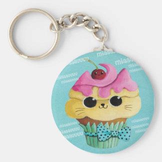 Leuk Kat Cupcake Sleutelhanger