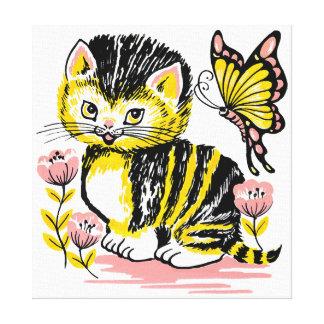 Leuk Katje Canvas Afdruk