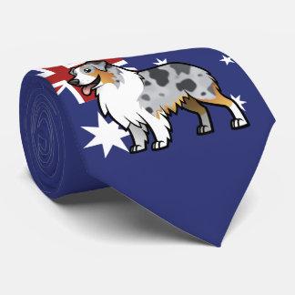 Leuk Klantgericht Huisdier op de Vlag van het Land Stropdas