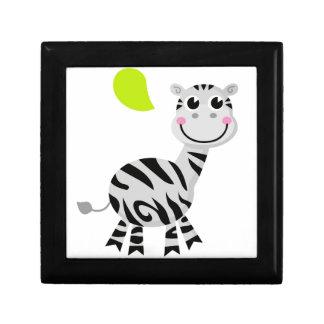 Leuk klein kinder zebra decoratiedoosje