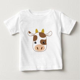leuk koegezicht baby t shirts