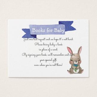 Leuk konijntje met het VERZOEK van het BOEK van de Visitekaartjes