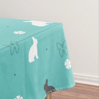 leuk konijntjesbloem en vlinderpatroon tafelkleed