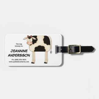Leuk Land Prim Folkart Dame Cow Bagagelabel