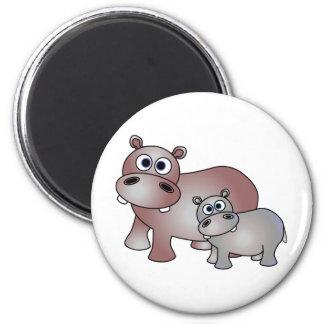 Leuk Mamma Hippos en Baby Magneet