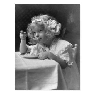 Leuk Meisje die Roomijs eten Briefkaart