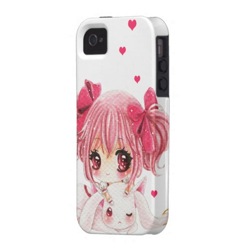 how to print a picture from iphone leuk meisje met kawaiikonijntje iphone 4 4s hoesjes zazzle 7387