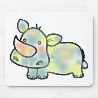 Leuk nijlpaard muismatten