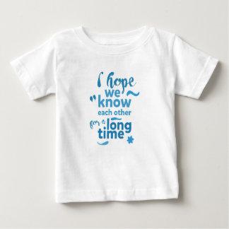 leuk overhemd voor kind - hoop lang kennen wij baby t shirts