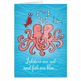 Leuk Paar de Valentijnsdag van van Octopussen Kaart