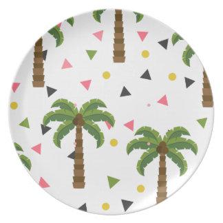 Leuk patroon met palmen en geometrische vormen melamine+bord