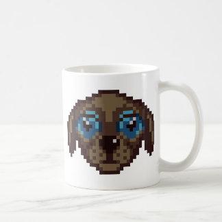 Leuk pixel-Kunst Puppy Koffiemok