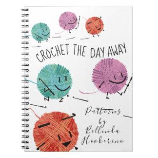 Leuk retro het patroonnotitieboekje van ringband notitieboek