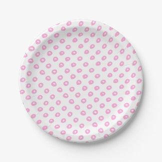 Leuk roze abstract polkadotspatroon | Baby shower Papieren Bordje