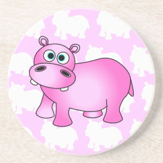 Leuk Roze Baby Hippo Zandsteen Onderzetter